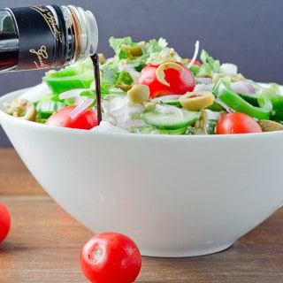 GREEK SALAD RECIPE WITH FETA CHEESE
