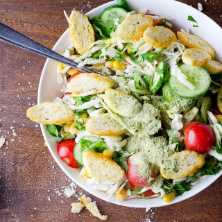 PANZANELLA SALAD WITH BREAD CHIPS