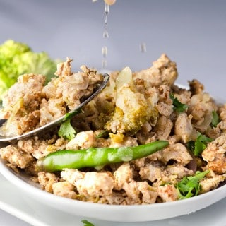 CHICKEN KEEMA  RECIPE  WITH ONIONS AND BROCCOLI
