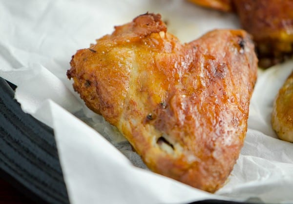 Oven-baked-chicken wings