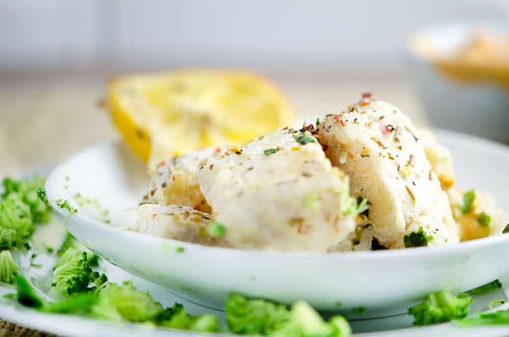 Baked Fish Fillets In Creamy Sauce With Brocolli Chefjar