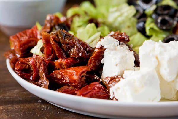 Sun dried tomatoes salad