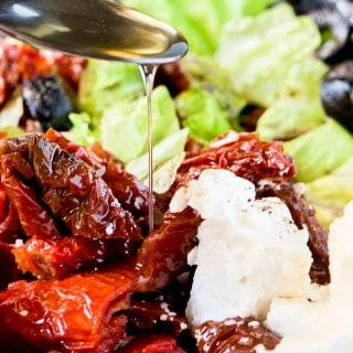 SUN DRIED TOMATOES SALAD WITH FETA CHEESE