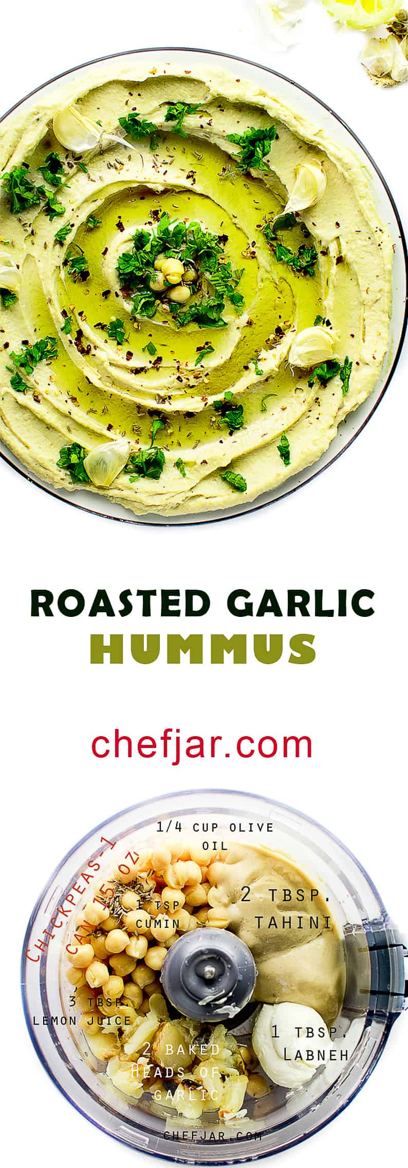 roasted garlic hummus