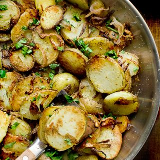 LYONNAISE POTATOES ( CRISPY & TENDER)