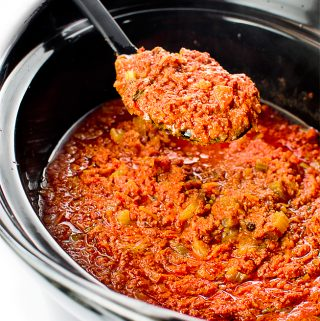 BOLOGNESE SAUCE ( IN CROCK POT)