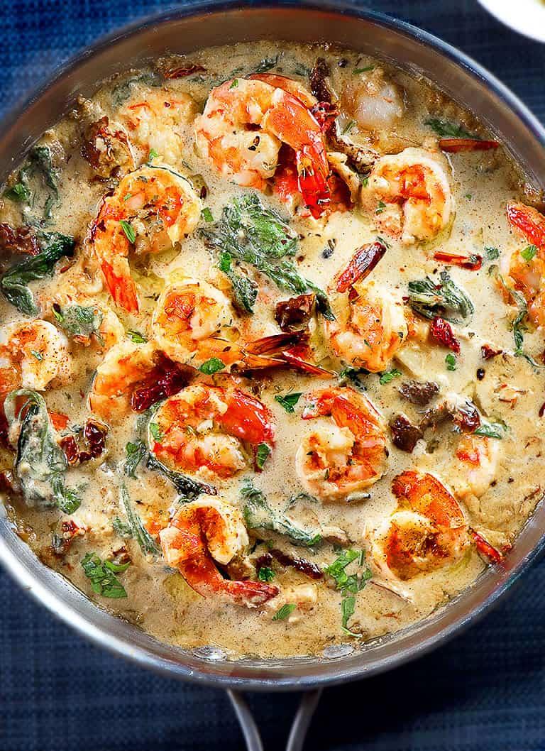 Creamy-garlic-Tuscan-shrimp