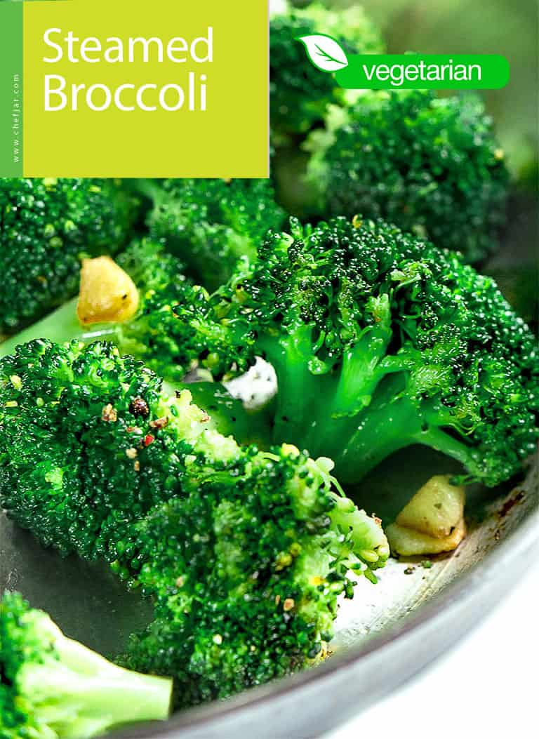 Steamed Broccoli With Toasted Garlic Chefjar