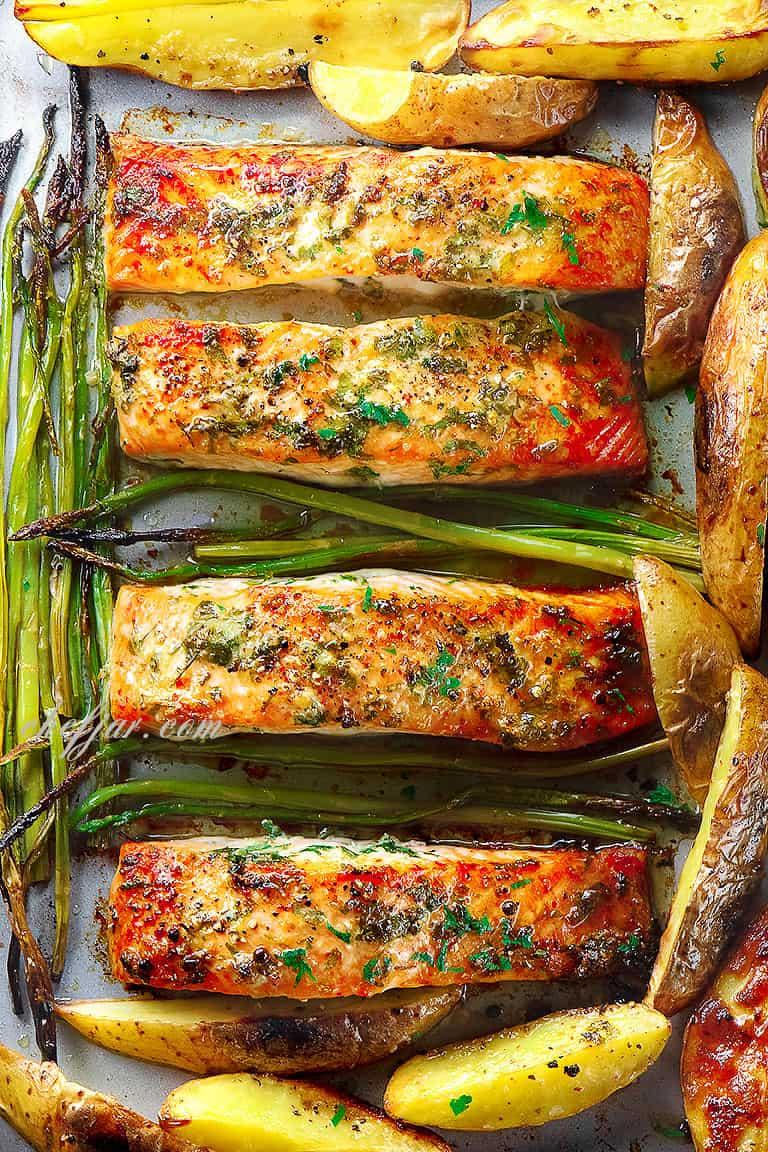 garlic-butter-baked-salmon