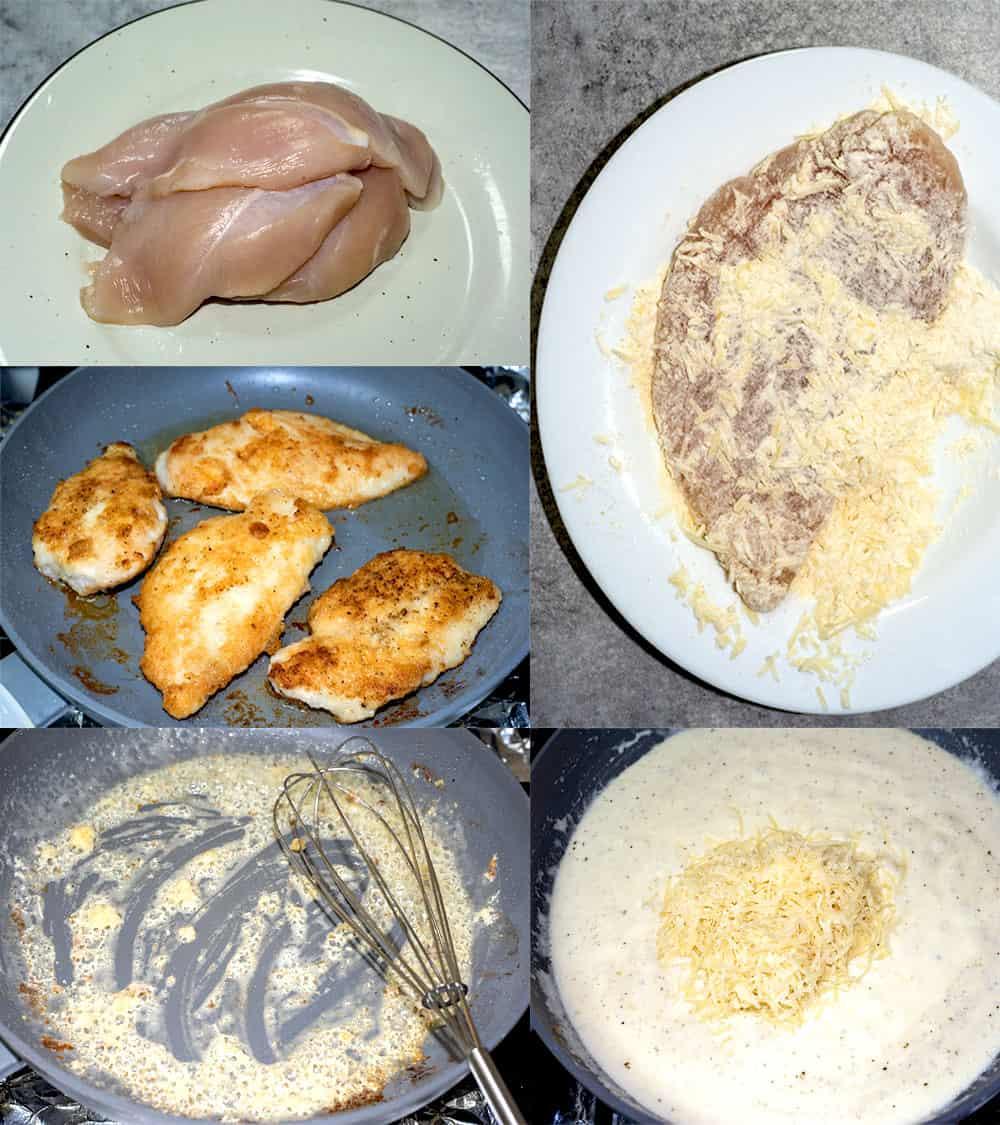 how to make creamy garlic parmesan chicken