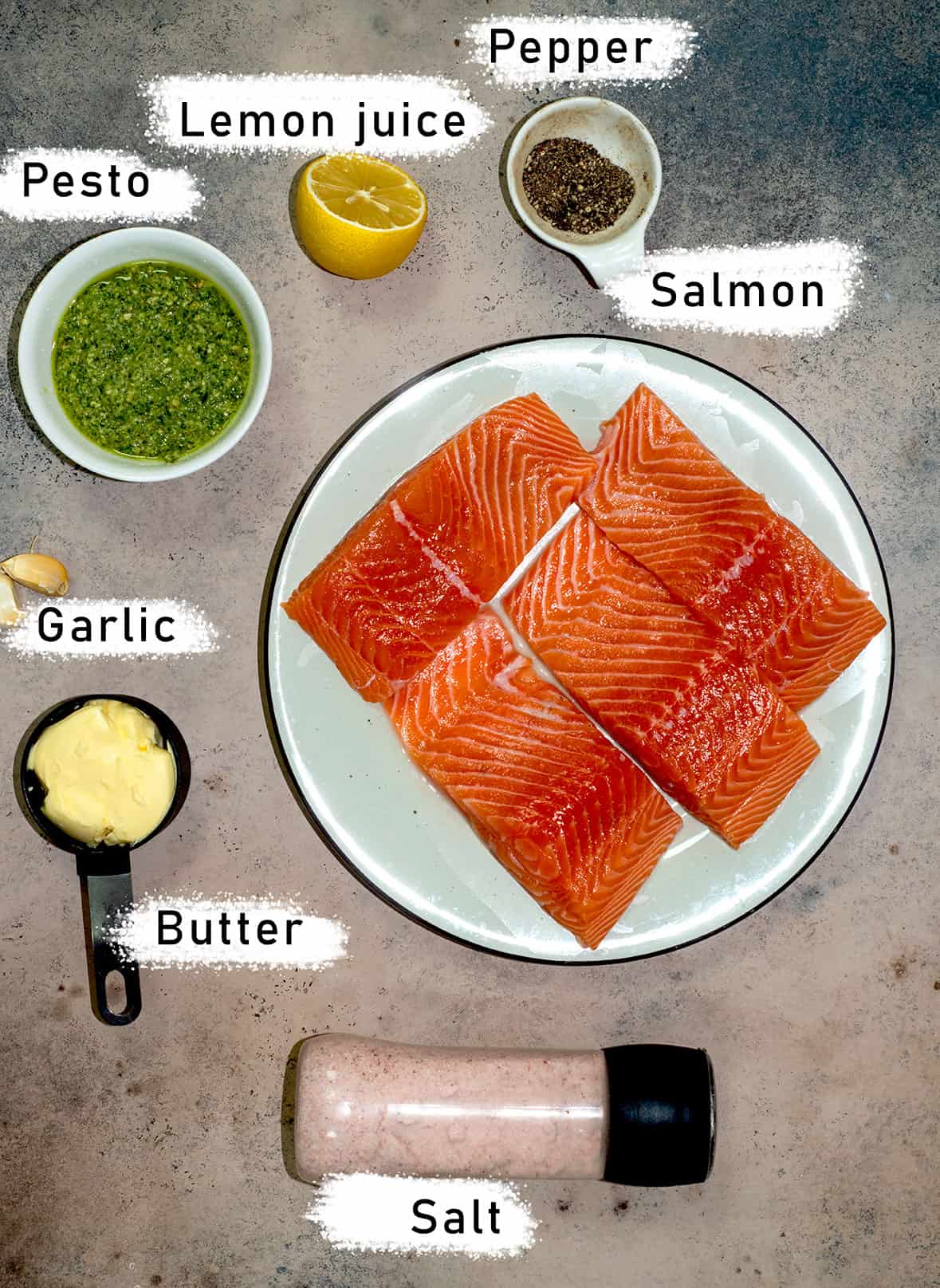 pesto butter salmon ingredients