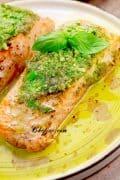 pesto butter salmon