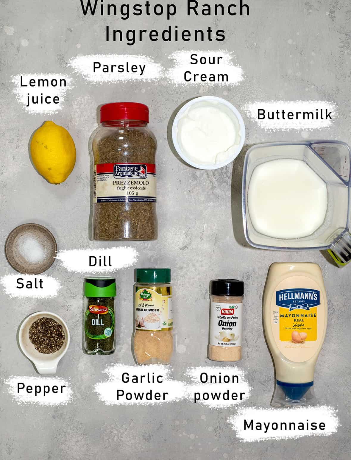 wingstop ranch ingredients
